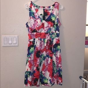 Milly for Designation Floral sleeveless Dress